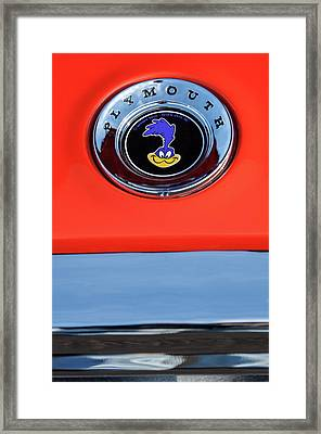1967 Plymouth Gtx Emblem -0206c Framed Print by Jill Reger