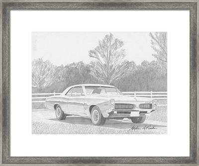 1967 Pontiac Tempest Muscle Car Art Print Framed Print by Stephen Rooks