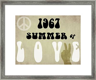 1967 Summer Of Love Newspaper Framed Print by Mindy Sommers