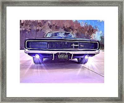 1968 Dodge Charger Framed Print by Scott Wallace