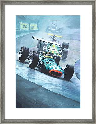 1968 German Gp Nurburgring  Framed Print by Yuriy Shevchuk