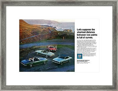 1968 Pontiac Firebird And Chevrolet Camaro Ss Framed Print by Digital Repro Depot