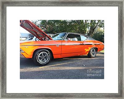 1969 Chevelle Ss 396 Framed Print by John Telfer