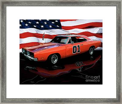 1969 General Lee Framed Print by Peter Piatt