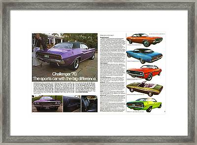 1970 Dodge Challenger Framed Print by Digital Repro Depot