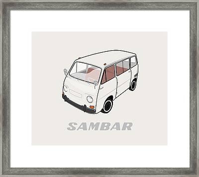 1970 Subaru Sambar Van Framed Print by Ed Jackson