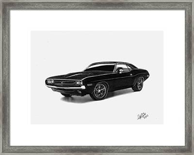1971 Dodge Challenger Framed Print by Chris Cox