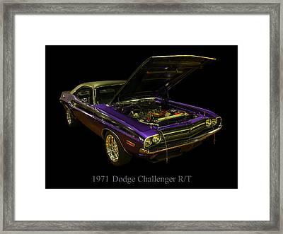 1971 Dodge Challenger Framed Print by Chris Flees