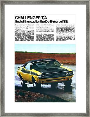 1971 Dodge Challenger T/a Framed Print by Digital Repro Depot