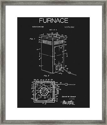 1971 Furnace Patent Framed Print by Dan Sproul