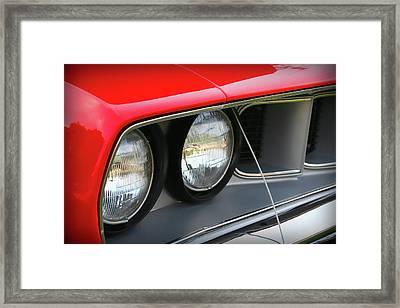 1971 Plymouth Barracuda Cuda Red  Framed Print by Gordon Dean II