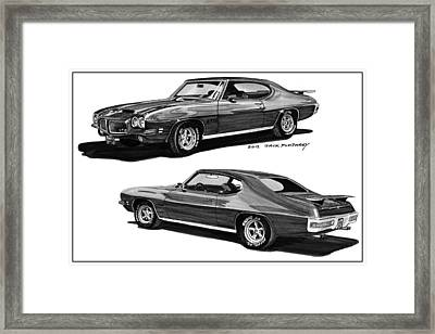 1971 Pontiac Gto Coming And Goin Framed Print by Jack Pumphrey
