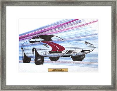 1972 Barracuda  Vintage Styling Design Concept Sketch Framed Print by John Samsen