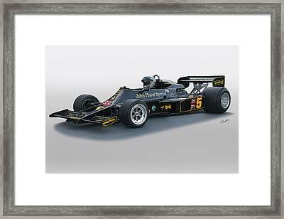 1976 Lotus 77 Vintage F1 Racecar Framed Print by Dave Koontz