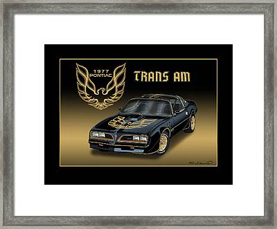 1977 Pontiac Trans Am Bandit Framed Print by Rudy Edwards