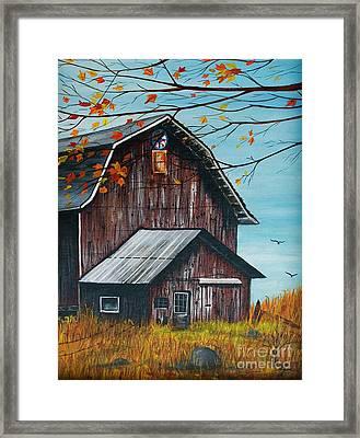 1980 Barn Framed Print by Linda Simon