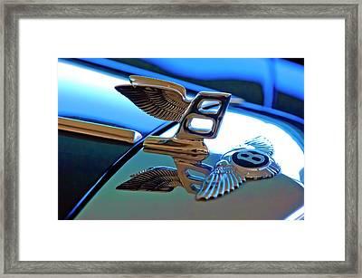 1980 Bentley Hood Ornament Framed Print by Jill Reger