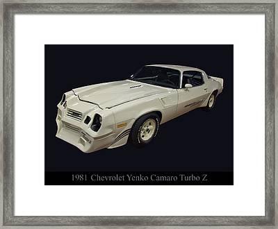 1981 Chevy Yenko Camaro Turbo Z Framed Print by Chris Flees