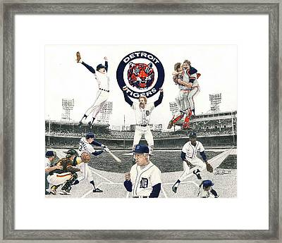 1984 Detroit Tigers Framed Print by Chris Brown
