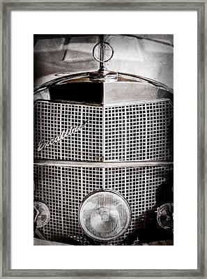 1984 Excalibur Phaeton Grille Emblem - Hood Ornament-0900ac Framed Print by Jill Reger