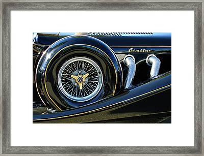 1984 Excalibur Roadster Spare Tire Framed Print by Jill Reger