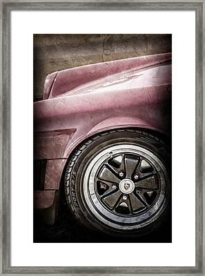 1984 Porsche 911 Carrera Wheel Emblem -2270ac Framed Print by Jill Reger
