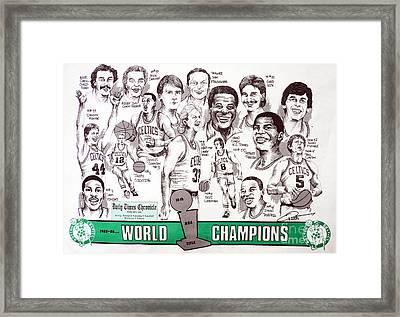 1986 Boston Celtics Championship Newspaper Poster Framed Print by Dave Olsen