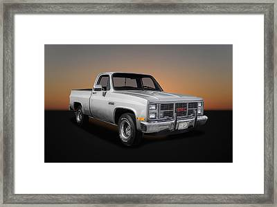 1986 Gmc Sierra Classic 1500 Series Pickup Truck- 1 Framed Print by Frank J Benz