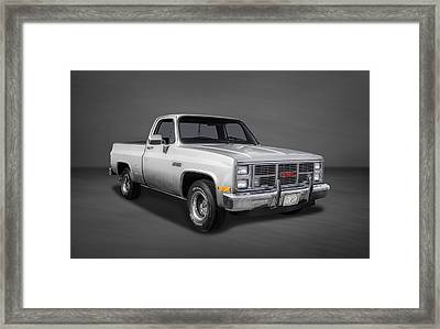 1986 Gmc Sierra Classic 1500 Series Pickup Truck-2 Framed Print by Frank J Benz