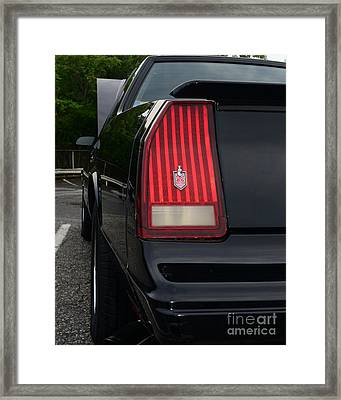 1988 Monte Carlo Ss Tail Light Framed Print by Paul Ward
