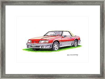 1989 Saleen Mustang Convertible Framed Print by Jack Pumphrey