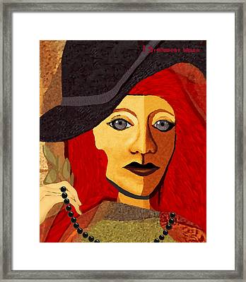 199  -  Her Sad Eyes Framed Print by Irmgard Schoendorf Welch