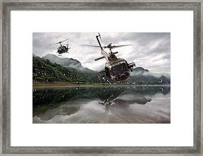 1st Cavalry Assault  Framed Print by Peter Chilelli