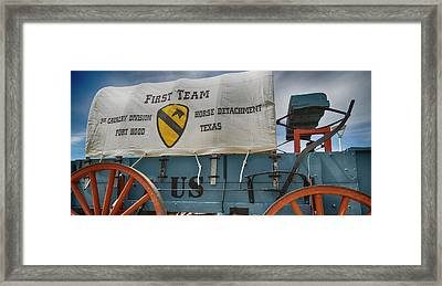 1st Cavalry Division Horse Detachment - Fort Hood Framed Print by Stephen Stookey