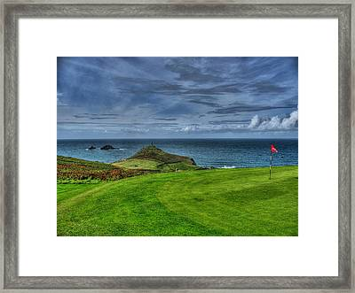 1st Green Cape Cornwall Golf Club Framed Print by Chris Thaxter