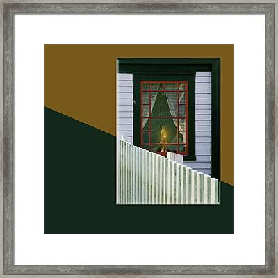Light In The Window -2-15 Framed Print by Manny Martins