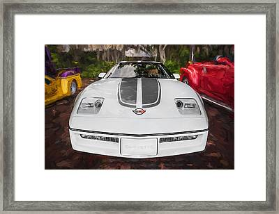 1984 Chevrolet Corvette Painted  Framed Print by Rich Franco
