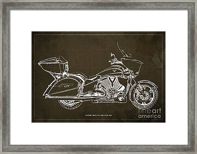 2014 Victory Cross Country Tour Blueprint Framed Print by Pablo Franchi