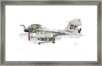 A-6e Intruder Caricature Framed Print by Morrell Cravens