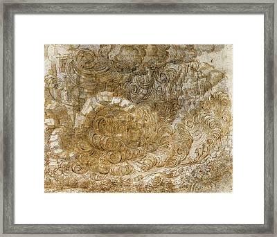 A Deluge Framed Print by Leonardo da Vinci