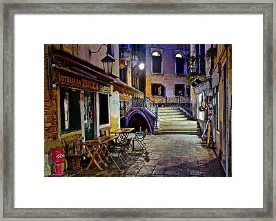 An Evening In Venice Framed Print by Frozen in Time Fine Art Photography