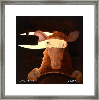 A Sheep At The Wheel... Framed Print by Will Bullas