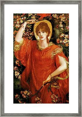 A Vision Of Fiammetta Framed Print by Dante Gabriel Rossetti