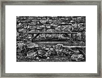 Abandoned Bench Framed Print by Milan Karadzic
