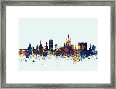 Aberdeen Scotland Skyline Framed Print by Michael Tompsett