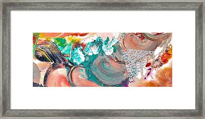 Abstract Acrylic Painting Picture Framed Print by Sumit Mehndiratta