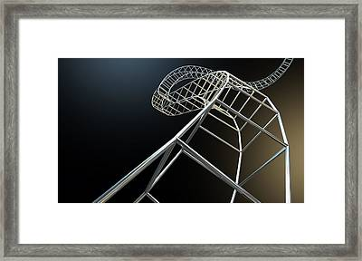 Abstract Contruction Spiral Framed Print by Allan Swart