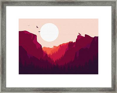 Abstract Landscape Yosemite National Park 1 - By Diana Van Framed Print by Diana Van