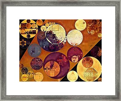 Abstract Painting - Cherokee Framed Print by Vitaliy Gladkiy