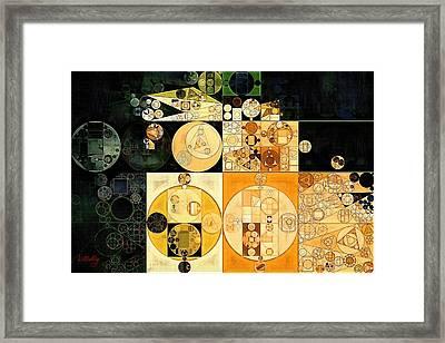 Abstract Painting - Corn Harvest Framed Print by Vitaliy Gladkiy